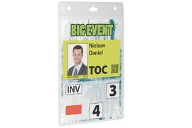 BADGE DURABLE 8525 EVENT A6 TRANSPARANT